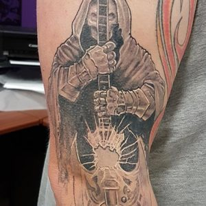 Healed Reaper Tattoo by Andy Christ