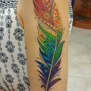 Pride Feather Tattoo by Smash