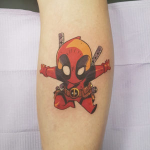 Chibi Deadpool Tattoo by Smash
