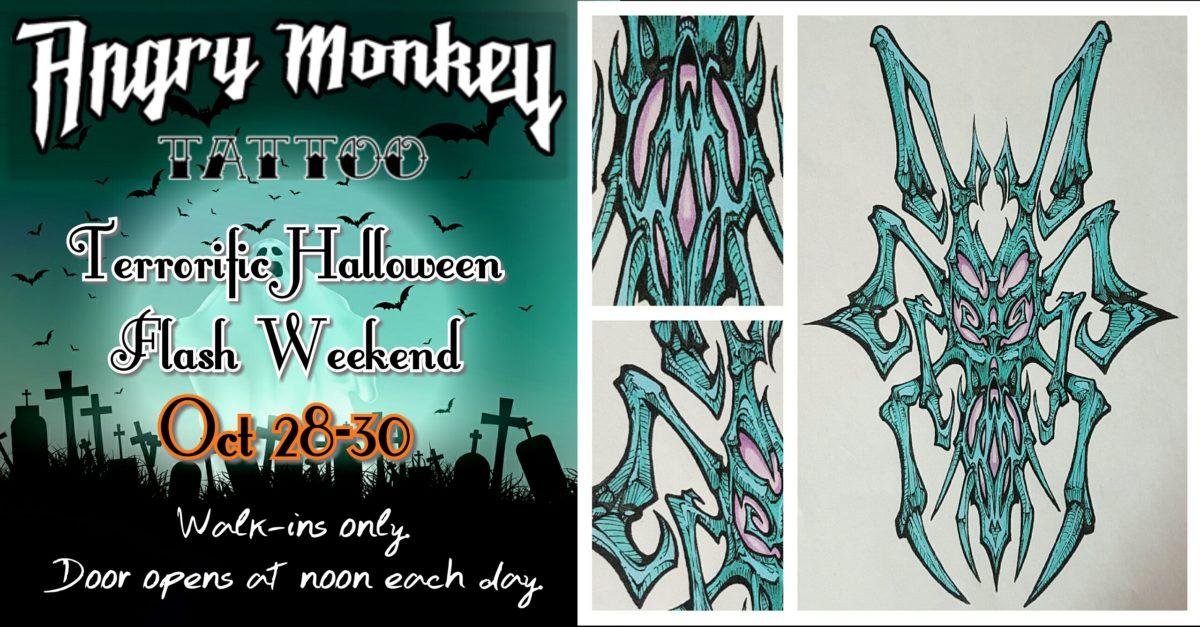 Angry Monkey Terrorific Halloween Flash Weekend