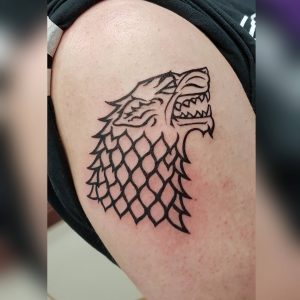 House Stark Tattoo Angry Monkey