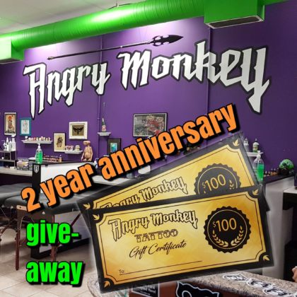 Angry Monkey 2 Year Anniversary Giveaway