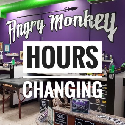Angry Monkey hours changing