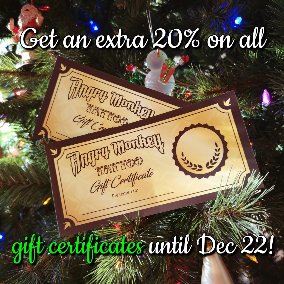 Gift Certificate Special