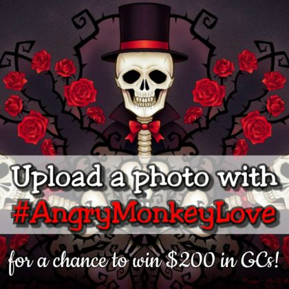 Angry Monkey Tattoo Valentine Contest