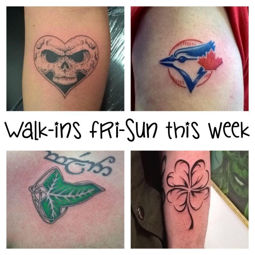 Walk-ins all weekend this week!