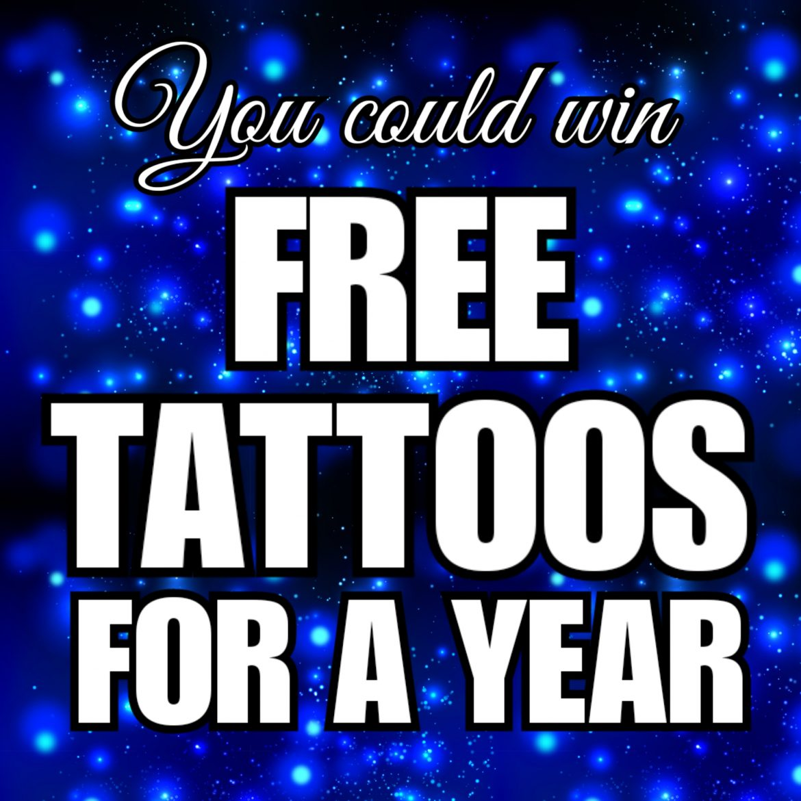 You could win free tattoos for a year in our biggest Christmas Giveaway ever!