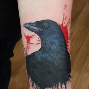 Crow Trash Polka Tattoo By Andy