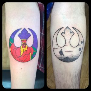 Custom Star Wars Tattoos by Smash