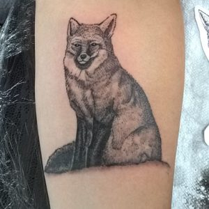 Illustrative Fox Tattoo By Andy