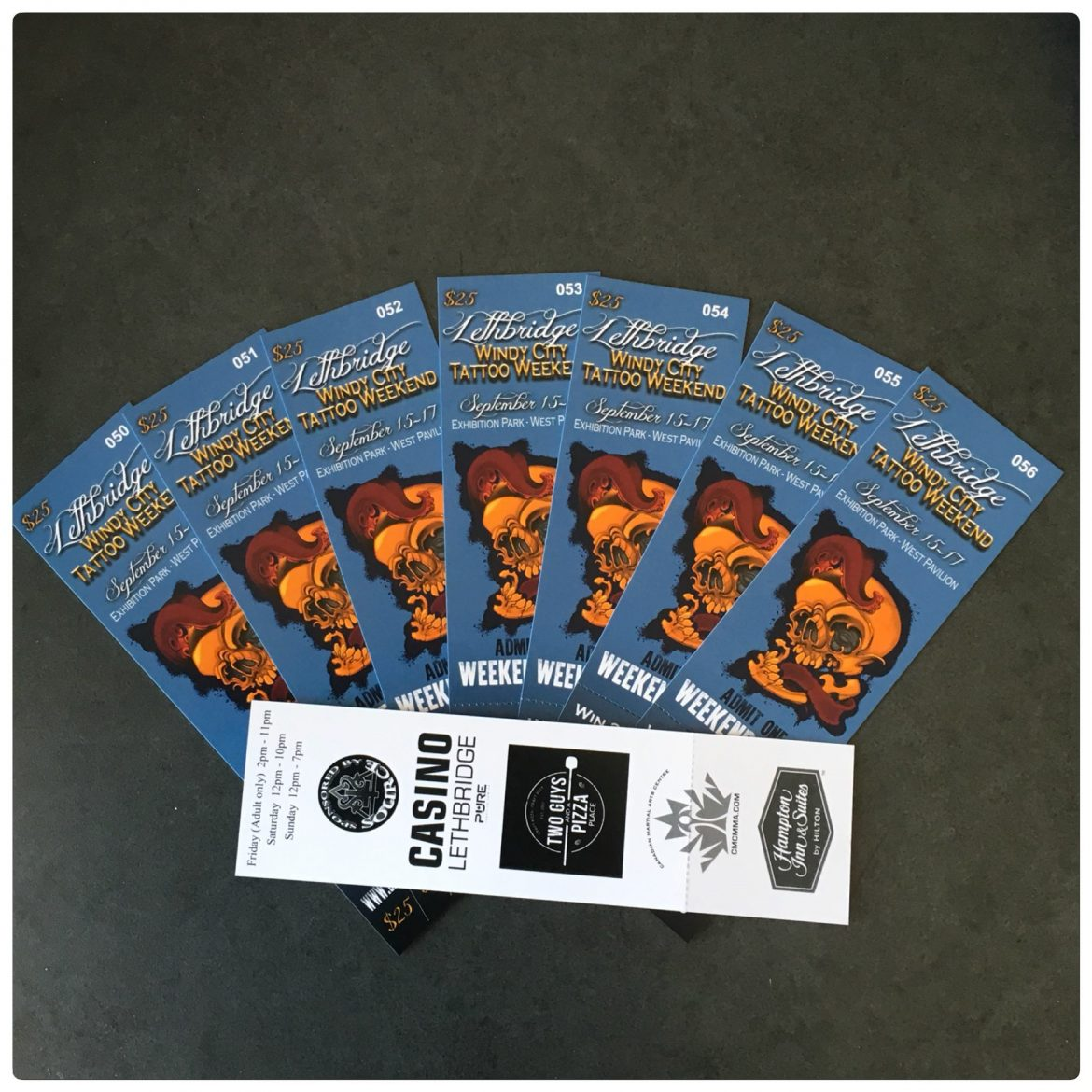Advance Weekend Passes to the Lethbridge Tattoo Convention now available!