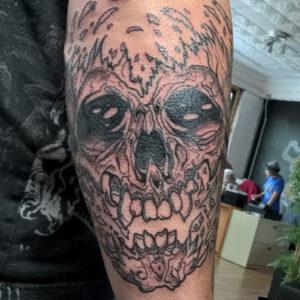 Pushead Skull Tattoo By Andy