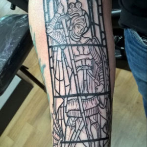 St George Stained Glass Tattoo By Andy